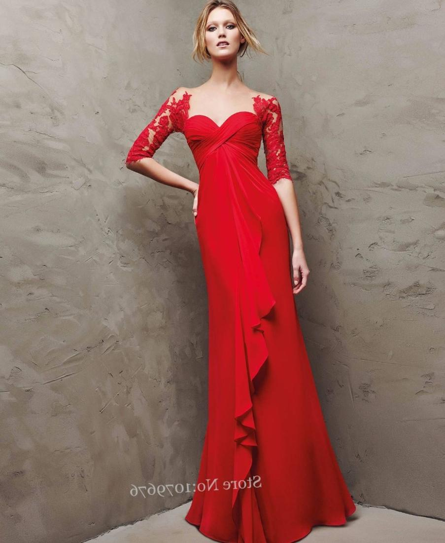 Plus Size Elegant High Waist Sweetheart Neckline Red Chiffon Maternity Evening Dresses 2017 Formal Gowns Celebrity