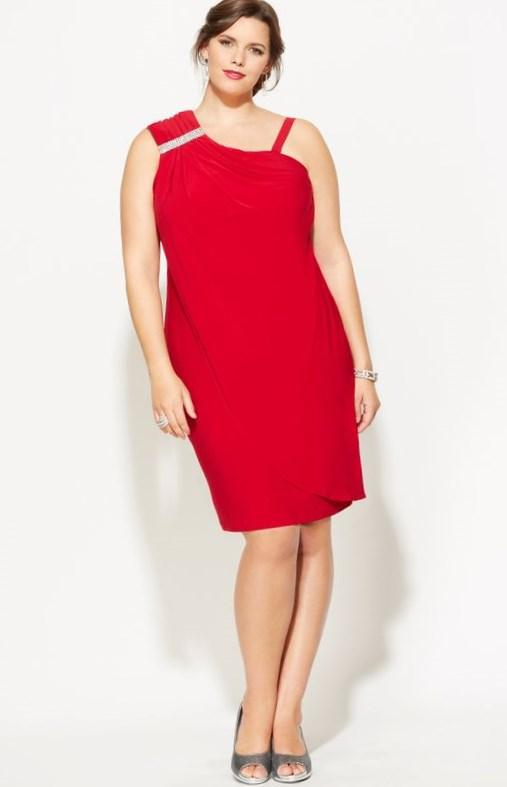 $24.99 Plus Size Draping Faux One Shoulder Dress | Plus Size Dress SALE | Avenue http