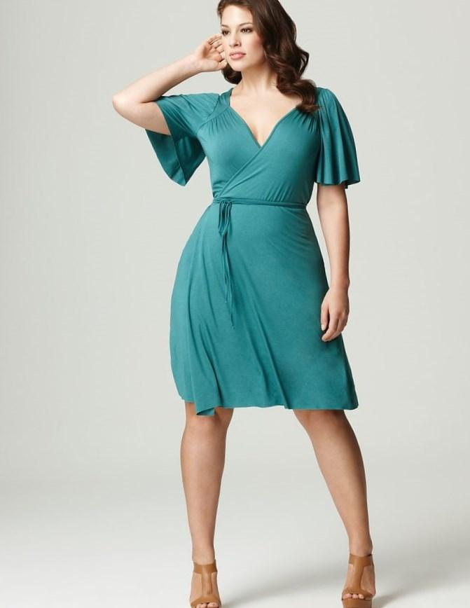 Plus Size White Wrap Dress Pluslook Collection