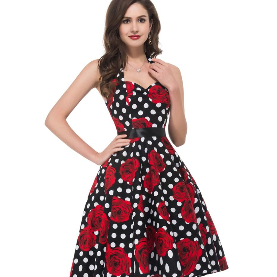 Plus Size 50s Style Dresses Pluslook Eu Collection
