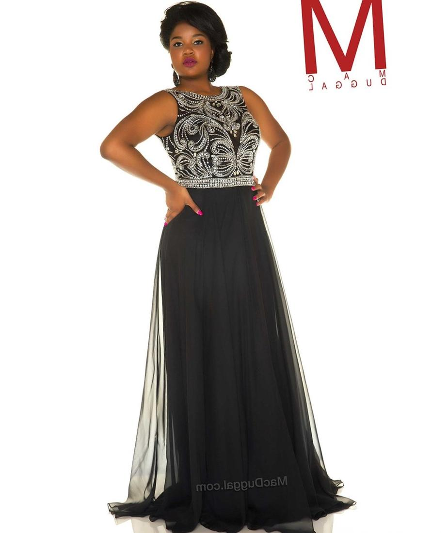 Black lace bodice prom dress
