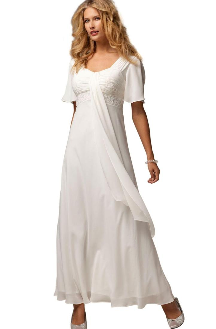 Plus size dresses empire waist collection for Empire waist plus size wedding dress