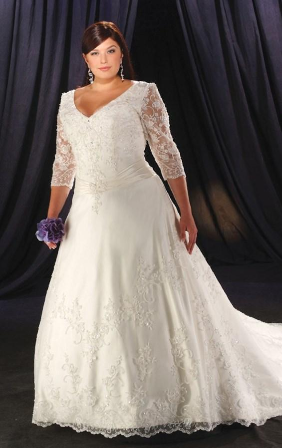 Affordable Plus Size Wedding Dress for Big Women Sweetheart