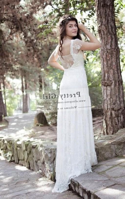 High-quality custom cheap plus size wedding dress 26w chiffon wedding dresses lace beach bohemian