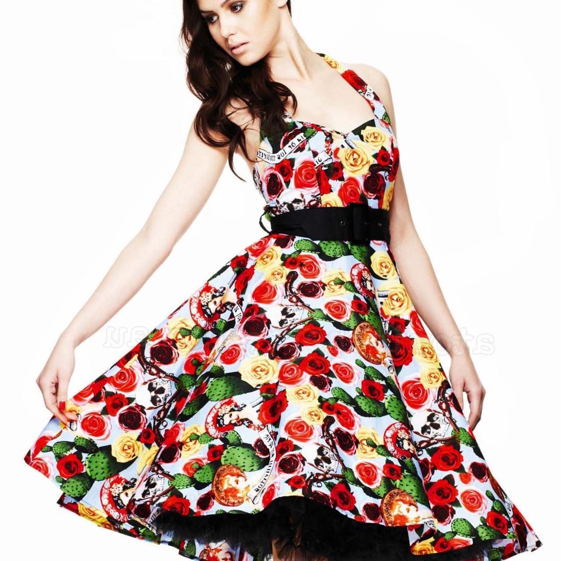 Vintage 70s мексиканская Этническая цветок вышивка платья женщин, BOHO хиппи повседневное платье плюс Размер женщин