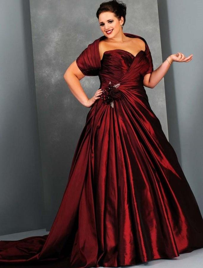 Plus Size Wedding Dresses With Color 30