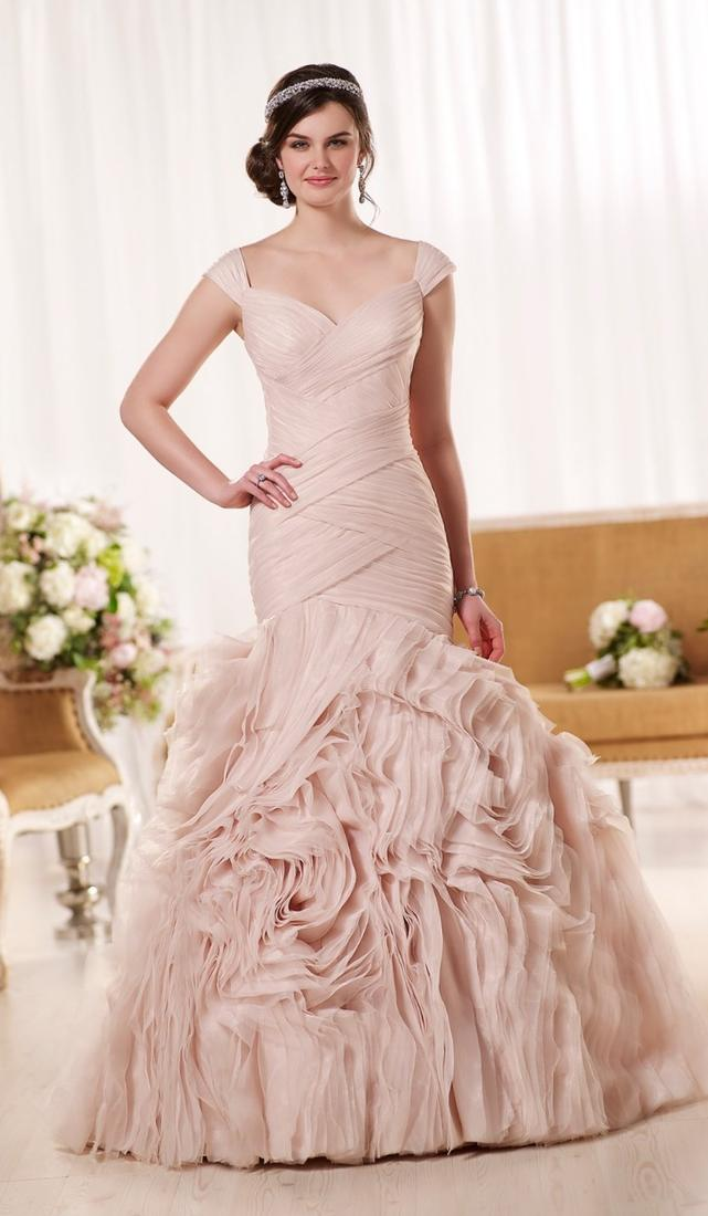 Pink plus size wedding dress collection for Plus size pink wedding dresses