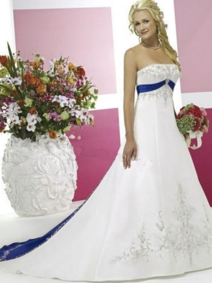 Blue plus size wedding dresses collection for Blue wedding dresses plus size