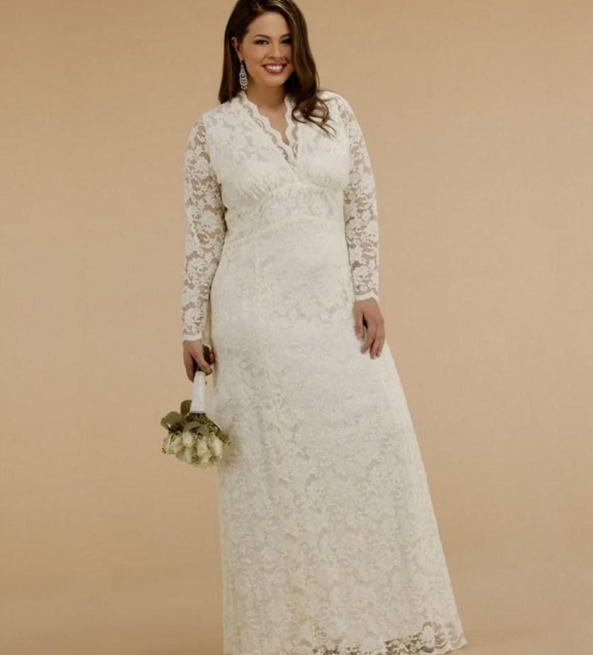 Plus size modest wedding dress - PlusLook.eu Collection