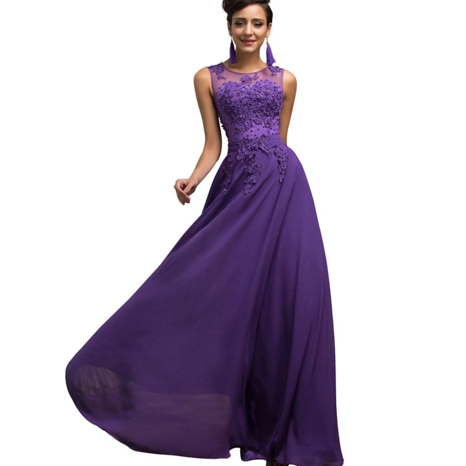 Amethyst colored formal dresses