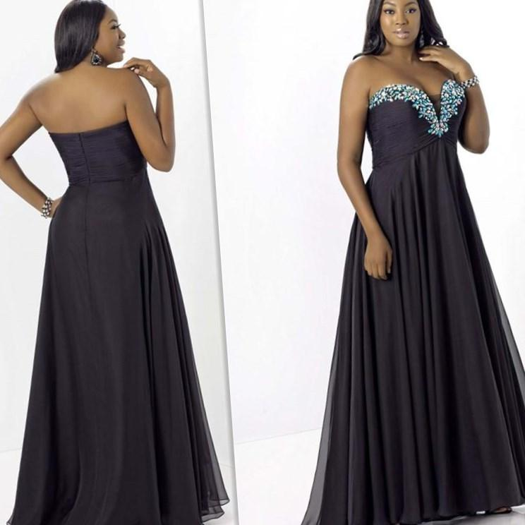 Evening gown dresses for plus size women
