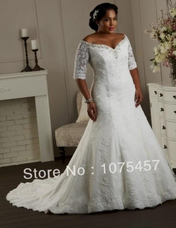 Plus Size Wedding Dresses Lace Sleeves