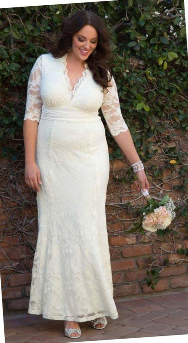 Flattering Wedding Dresses For Plus Size Women