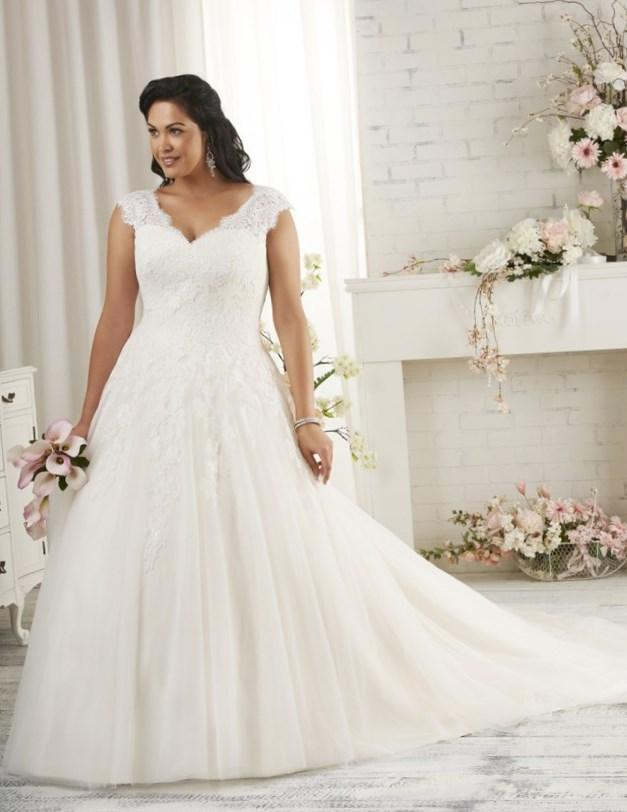 best wedding dress designers for plus size