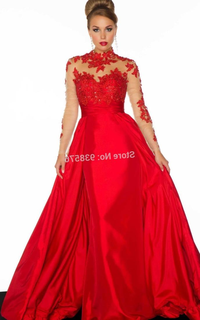 Red Prom Dress Plus Size
