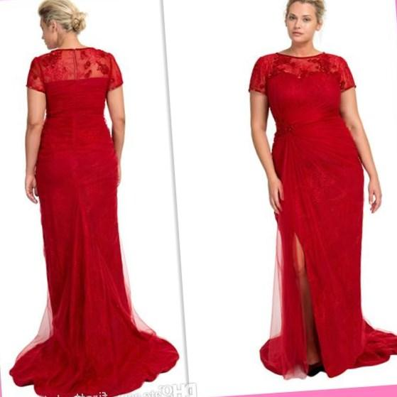 Sexy Red Mermaid Prom Dresses Floor Length Cut Out Halter Sexy Evening Dresses Plus Size Formal
