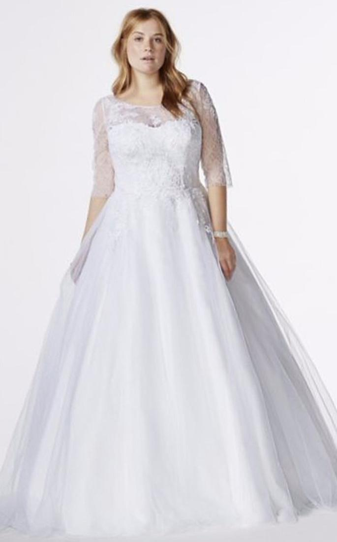 Cheap wedding dresses plus size for under 100 pluslook for Wedding dresses with sleeves cheap