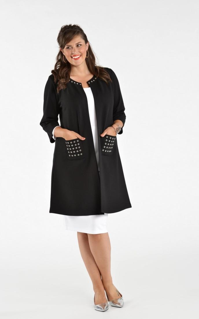 Plus size long dress coats