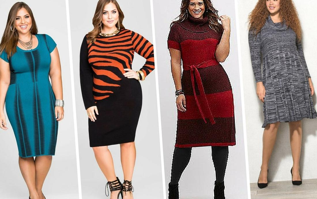 Sweater Dress For Plus Size Pluslook Collection