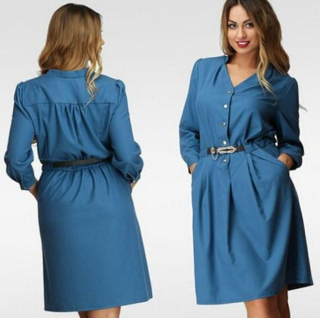 Plus Size Chiffon Shirt Dress – fashion dresses 033b74dc08f2