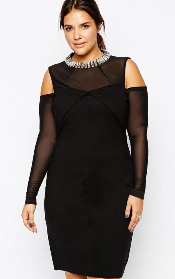 Xscape Embellished Stretch Jersey Long Dress (Plus Size)