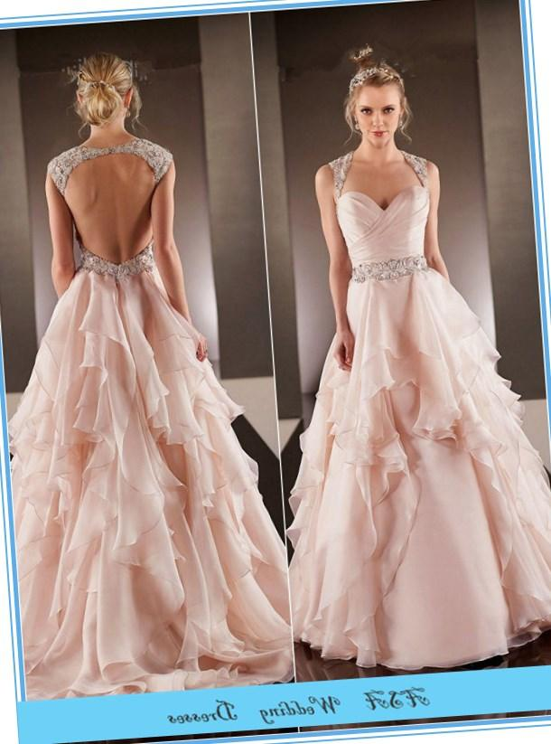 Plus size pink wedding dresses collection for Champagne pink wedding dresses