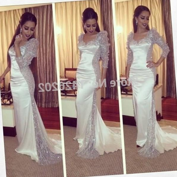 Lace White Evening Dresses 2018 Sleeveless Women Sexy Design Long Prom Party Formal Dresses Plus Size