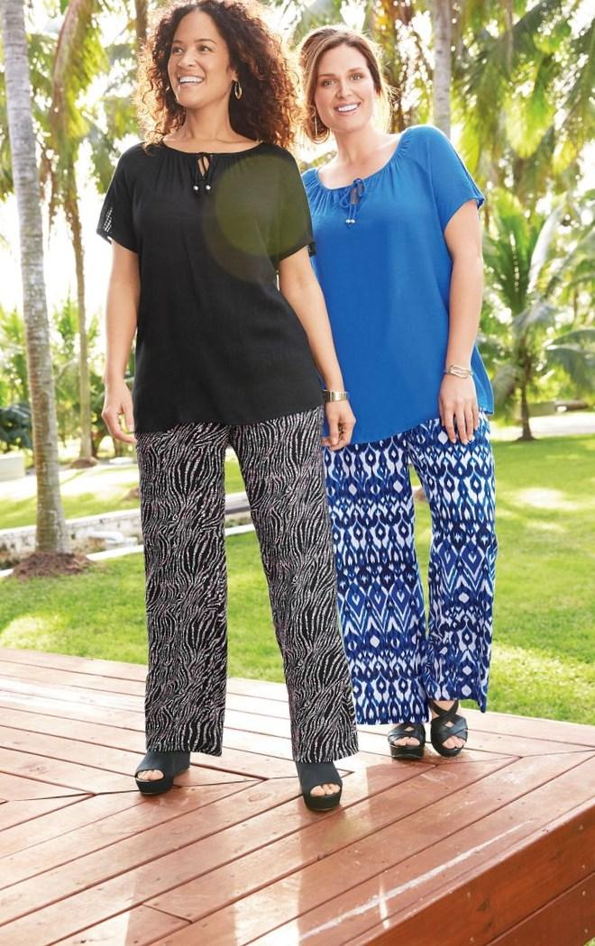 Kim Rogers Plus Size Print Pants exclusively at Belk. I would totally wear these. They look super comfy. Pants Exclusively, Conjuntos Juveniles,