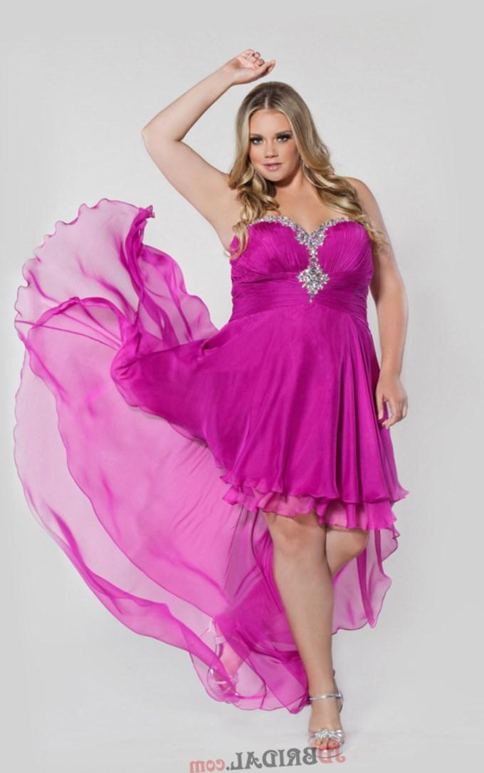 2017 Plus Size Prom Dress A Line High Low Sweetheart Chiffon Beading  Sequins on sale