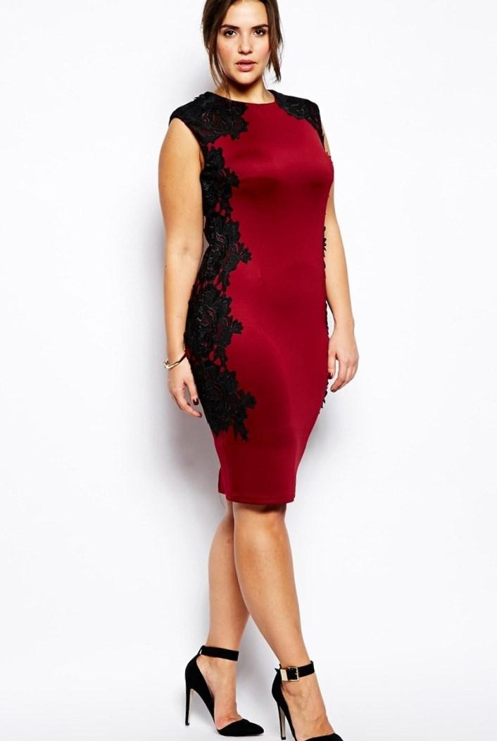 Plus Size Red Bodycon Dress Re Re