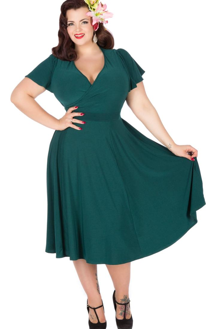 plus party dress in the 1950