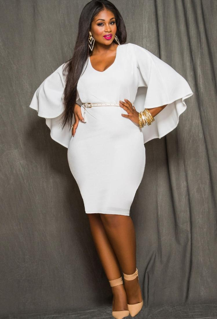 Obtain Appealing Plus Size All White Party Dresses Photo MYSD Hi-Res Photo Main Sorted