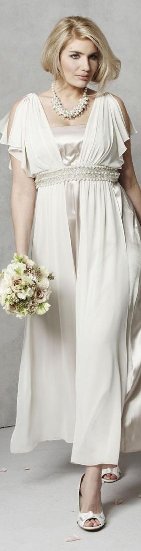 Wedding dresses for plus size mature brides for Destination plus size wedding dresses