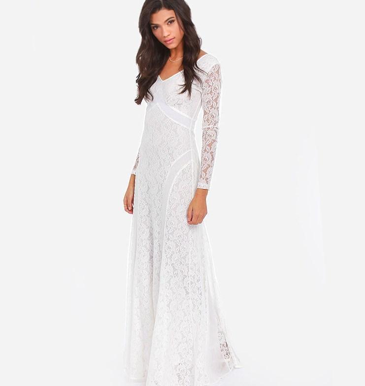 Cheap Plus Size White Lace Dresses 28