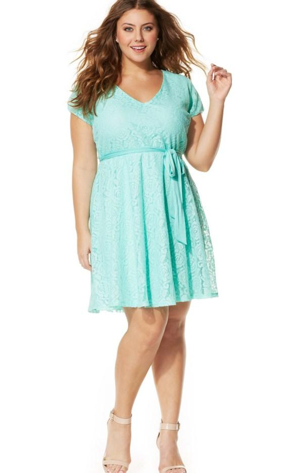 Mint Green Plus Size Prom Dress