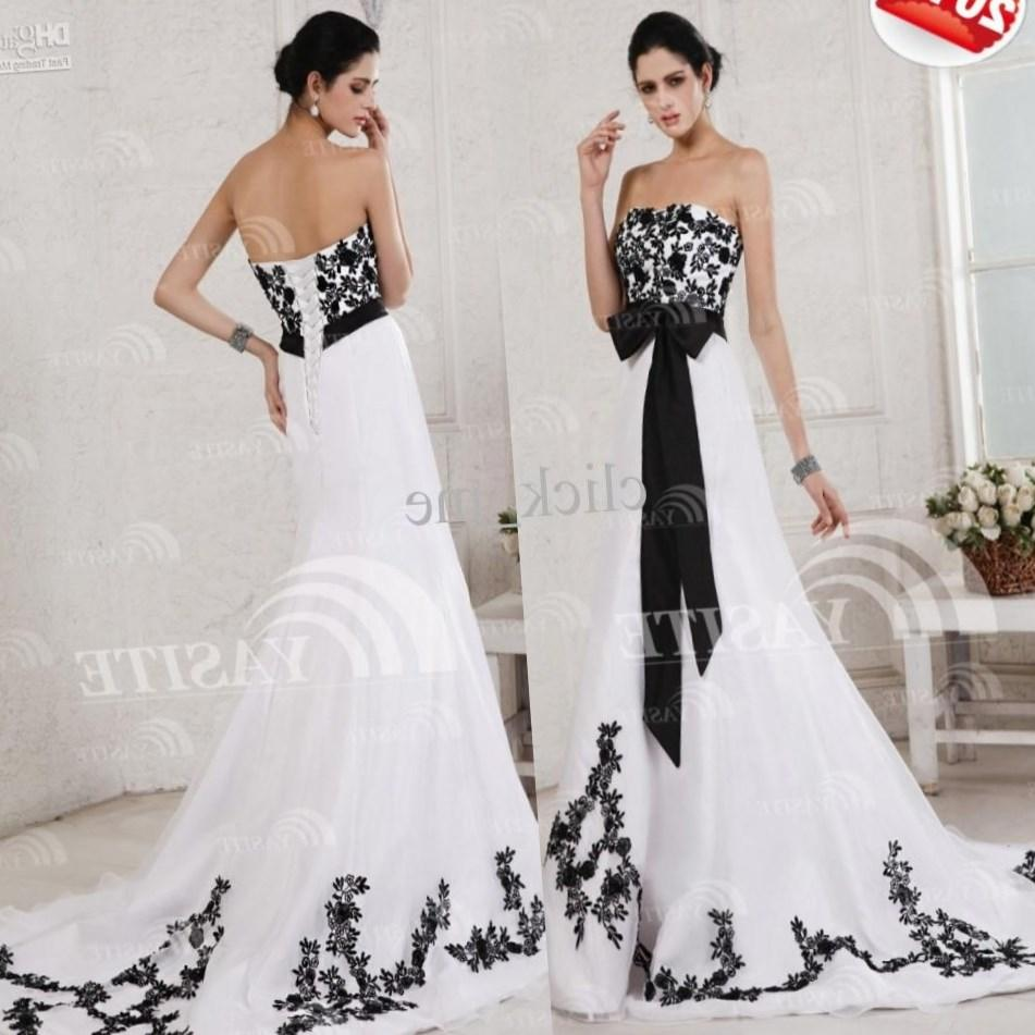 Plus size black and white wedding dresses for Wedding dresses white and black