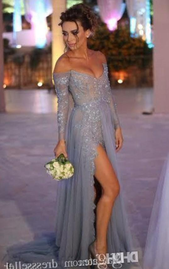 Hot Sale Champagne Long Mermaid Prom Dress Plus Size Crystals Tulle Dresses In Stock Cheap Price