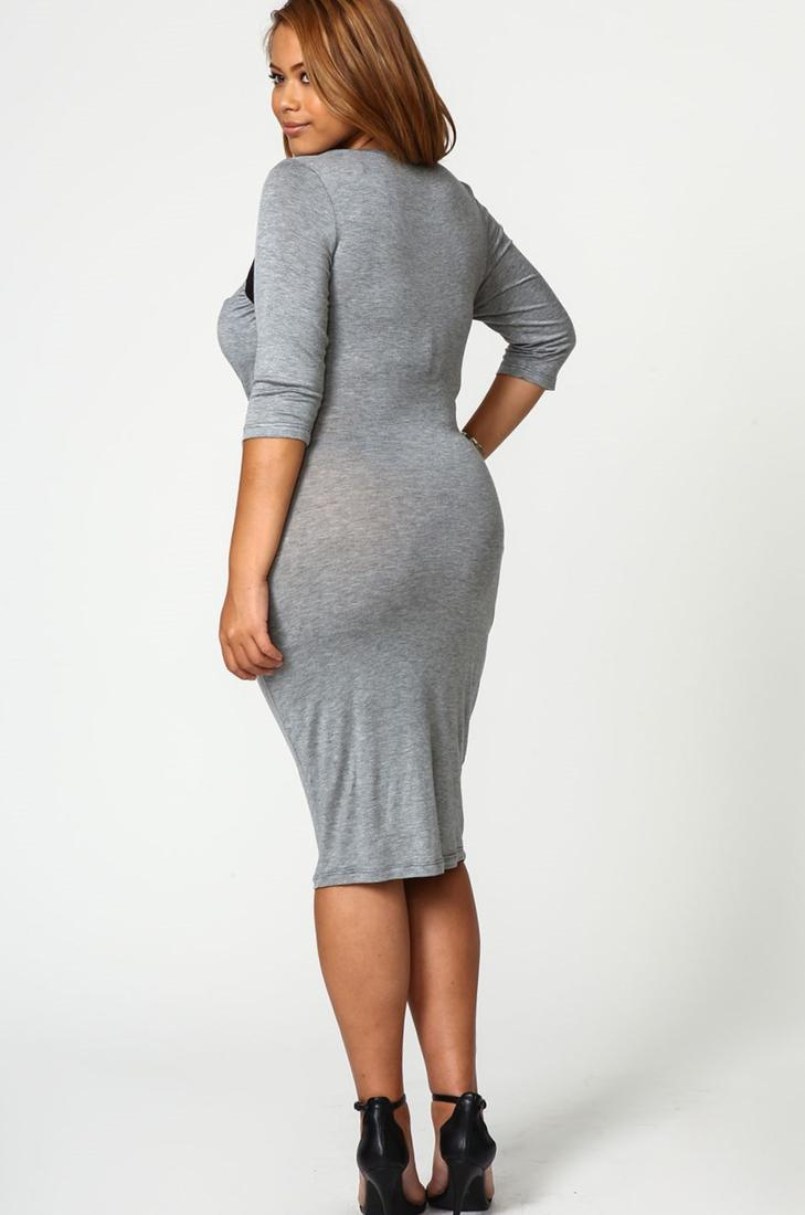Plus Size Jersey Knit Dresses 3
