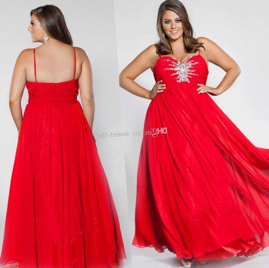 Red Formal Dress Plus Size Pluslook Collection
