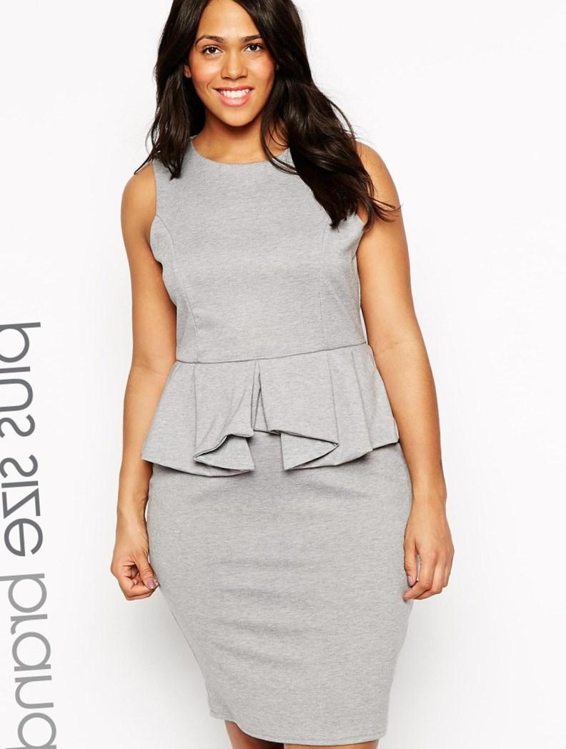Plus size white leather dress