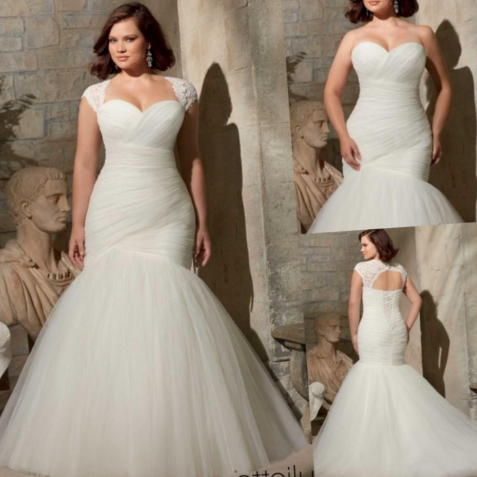 Plus size wedding dress with color collection for Long sleeve plus size wedding dress