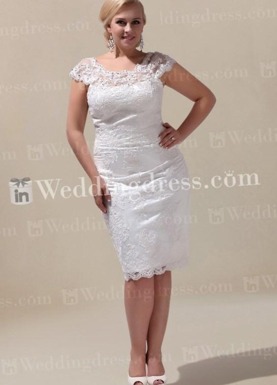 Diamond white one shoulder chiffon empire waist plus size informal wedding gown(China (Mainland