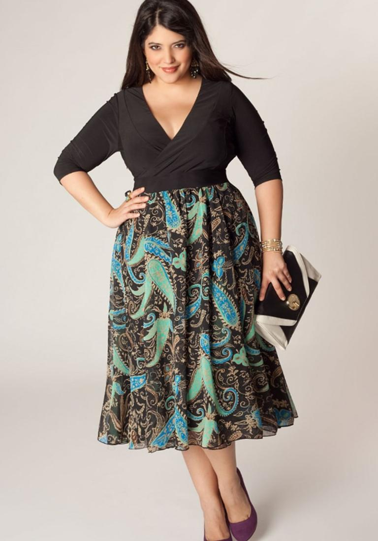 Vienna Plus Size Dress in Emerald - Plus Size Evening and Cocktail Dresses by IGIGI