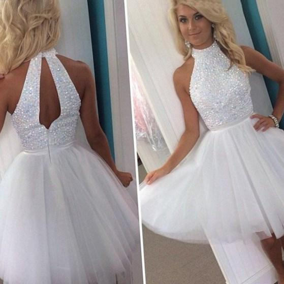 In Stock Buy Short One Shoulder Plus Dress at PromGirl