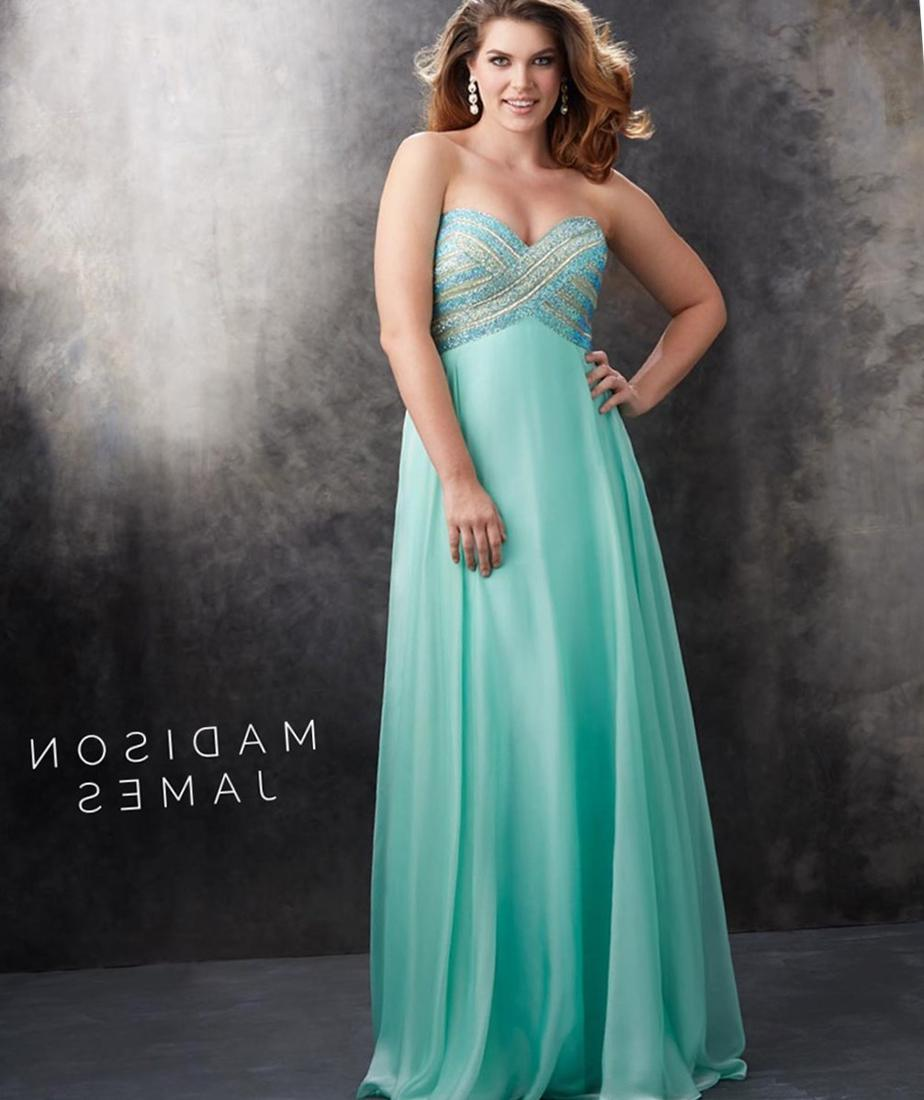 Strapless dress plus size - PlusLook.eu Collection