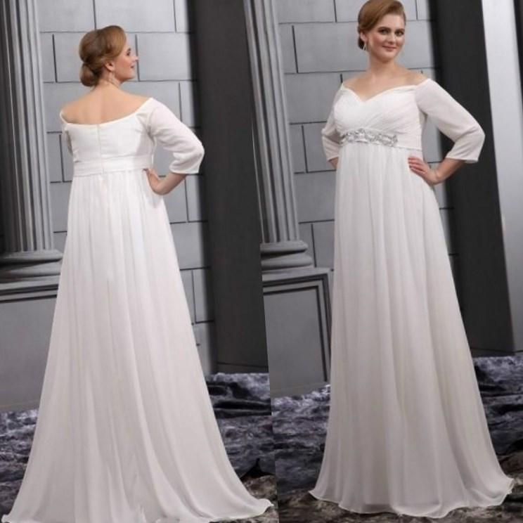 simple wedding dress plus size pluslookeu collection