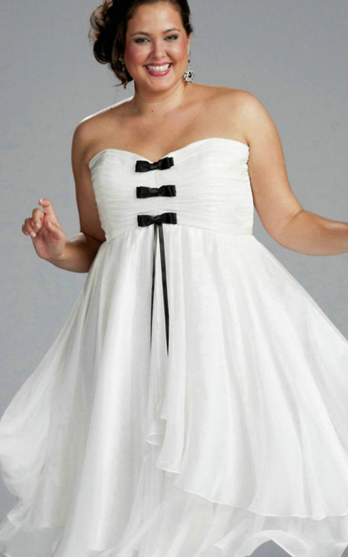 White Dress For Plus Size Women Trendy Fashion Of White Color