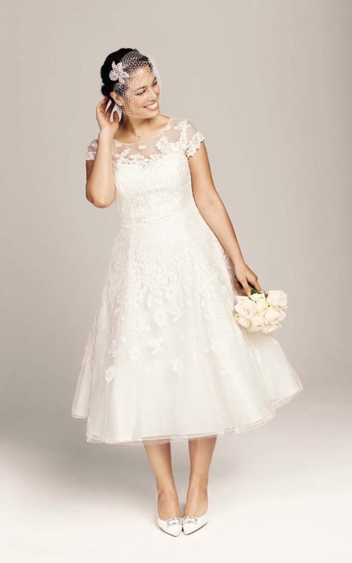 Plus size wedding dresses short collection for Short wedding dresses plus size