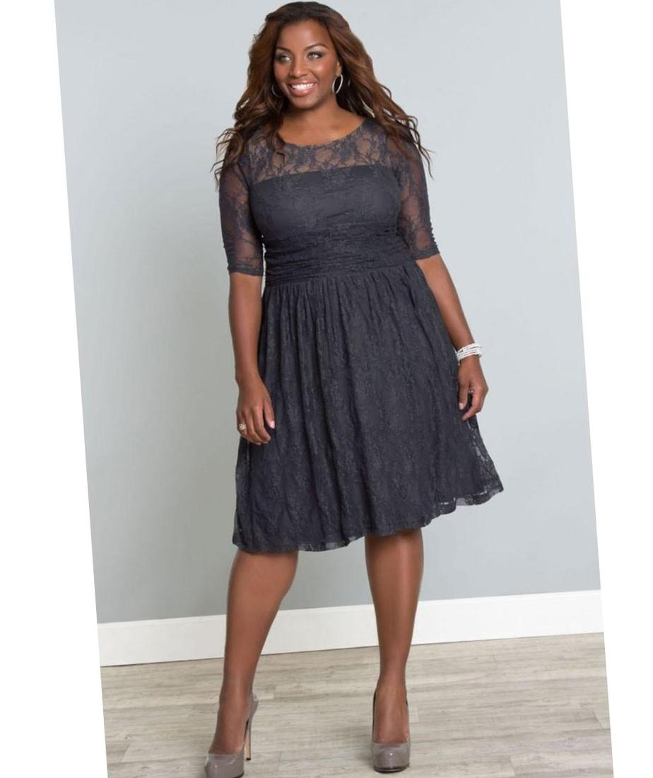 Plus size knee length dresses - PlusLook.eu Collection