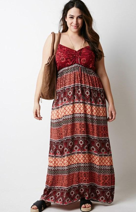 Plus size boho maxi dresses